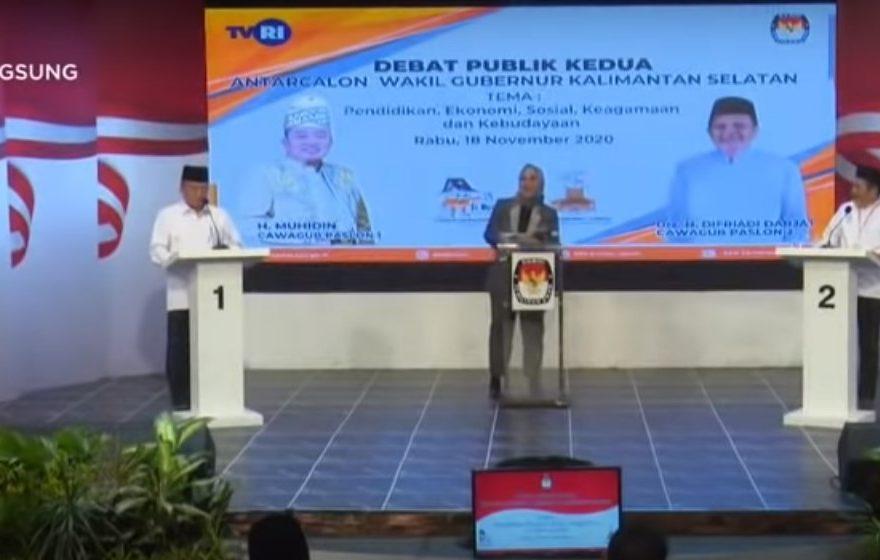 Debat kedua Calon Wakil Gubernur Kalsel