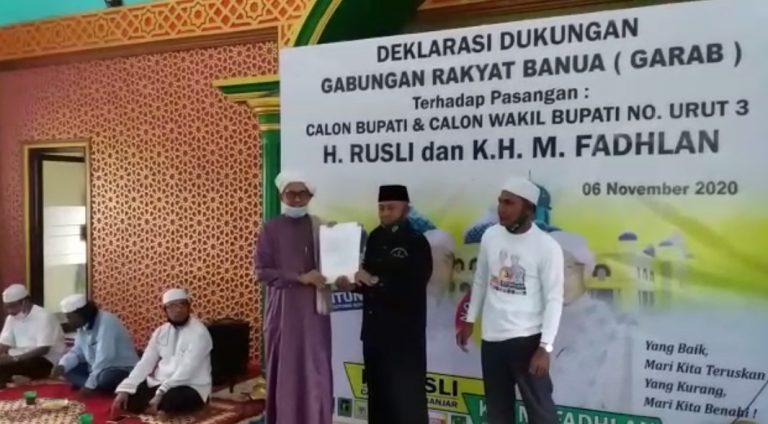 Garab Banjar Deklarasi Dukung Paslon RF