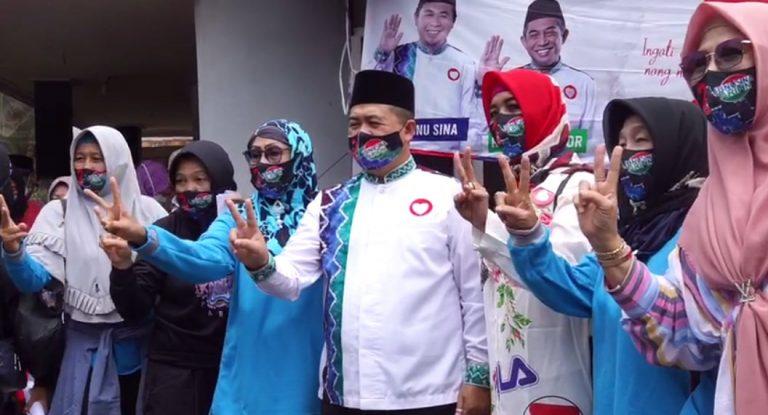 Ibnu Sina dapat dukungan dari ibu- ibu warga di Cempaka Sari Banjarmasin Tengah