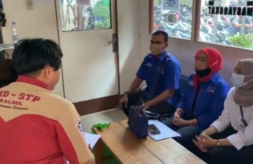 Ketua SBPP kota Banjarmasin Melaporkan Perusakan APK