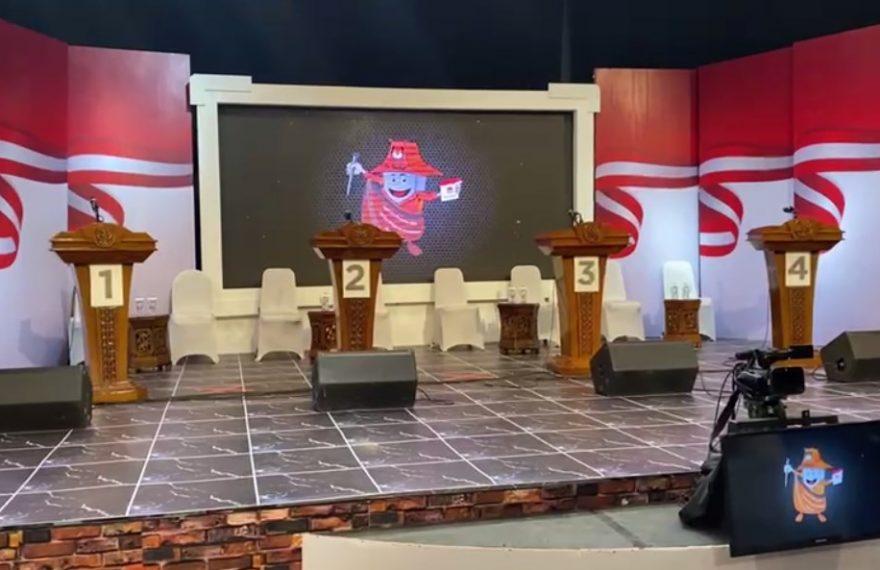 Persiapan Debat kedua Calon Wali Kota Banjarmasin