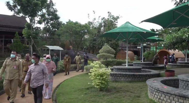 Pjs Wali kota Banjarbaru kunjungi wisata amanah borneo park