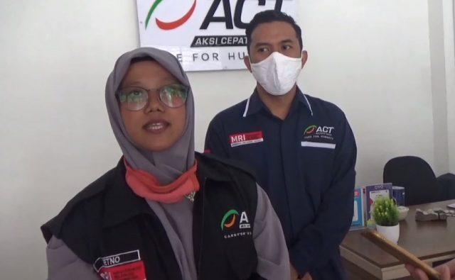 Retno Sulisetiyani Koordinator Program ACT Cabang Kalsel.