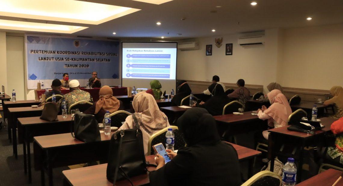Rapat Koordinasi dengan pemberi pelayanan rehabilitasi sosial di Provinsi Kalimantan Selatan