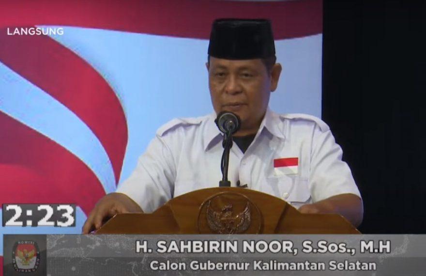 calon Gubernur Kalsel Sahbirin Noor