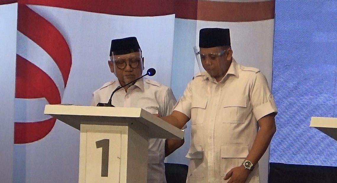 Paslon nomor urut 1, Abdul Haris Makkie dan Ilham Nor.