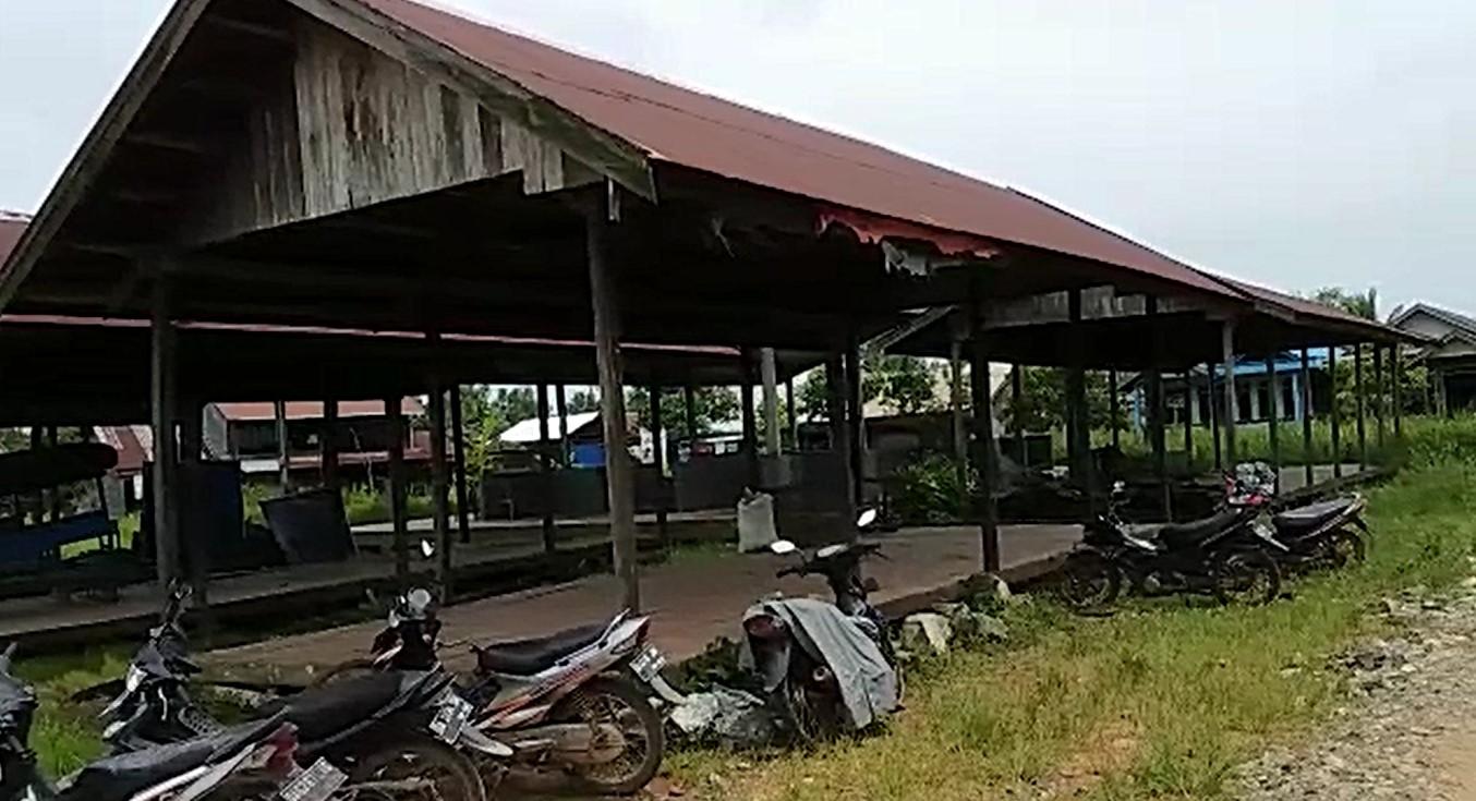 Tidak Ditempati Pedagang Hampir 5 Tahun, Pasar Jambu Burung Terbengkalai