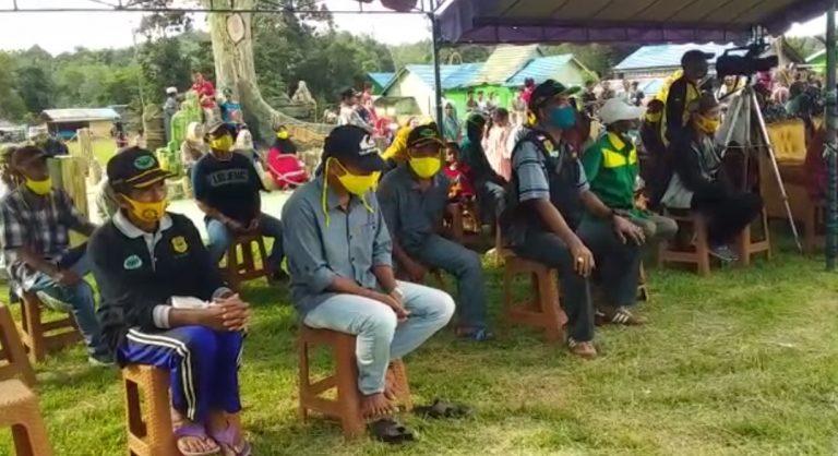 H Rusli Kunjungi Warga Desa Hakim Makmur