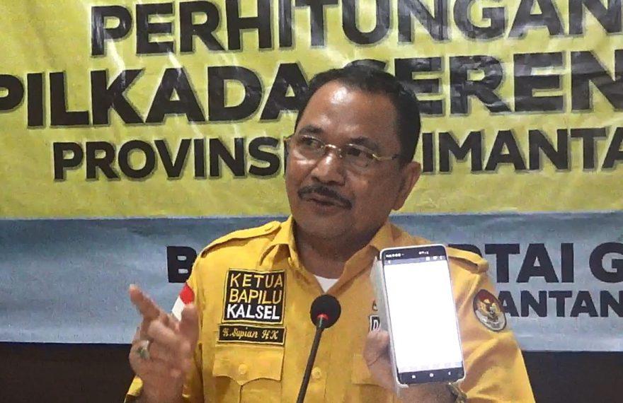 Ketua bapilu DPD partai Golkar Kalsel, Supian HK