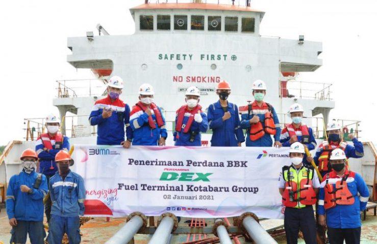 Jaga Pasokan Pertamina Dex Di Kalselteng, FT Kotabaru Jadi Titik Suplai Utama