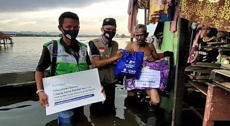 NU Care Lazisnu Salurkan Selimut, Bantal dan Sembako ke Korban Pasca Banjir