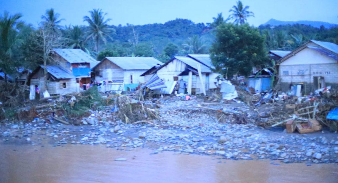 Kondisi rumah warga pasca banjir