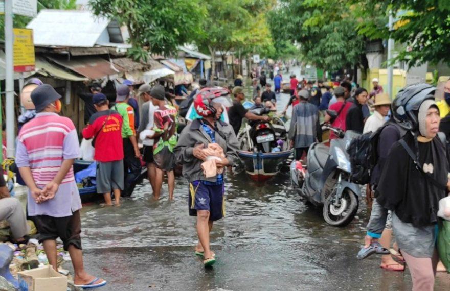 suasana banjir di Batola (foto:duta tv)