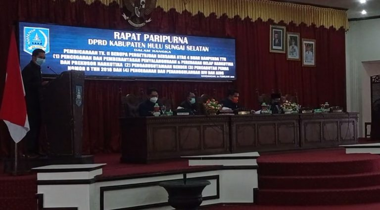 Rapat paripurna DPRD HSS (foto:duta tv)