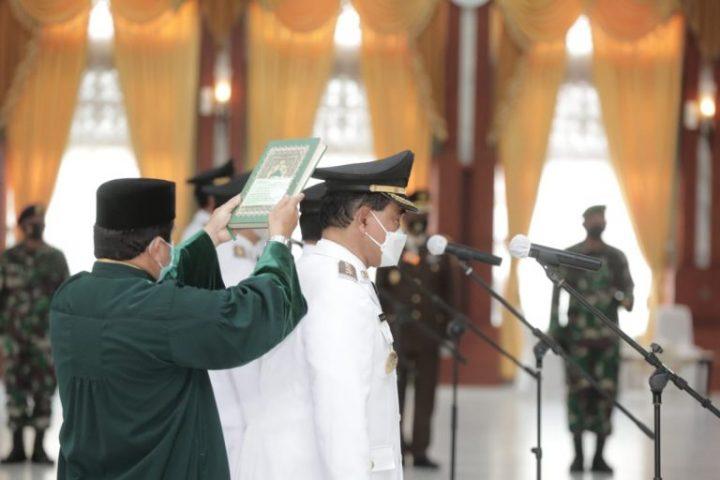 dr HM Zairullah Azhar & Muhammad Rusli, Resmi dilantik Jadi Bupati dan Wakil Bupati Tanah Bumbu (Tanbu) Periode 2021 – 2024