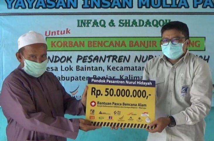 Yayasan Insan Mulia Pama Bantu Perbaikan Fasilitas Umum Pasca Banjir