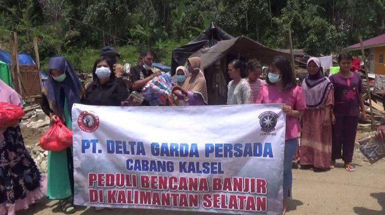 PT Delta Garda Persada Salurkan Bantuan ke Desa Hantakan dan Waki