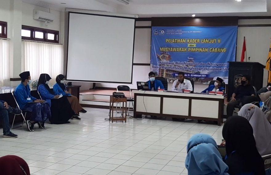 pelatihan kader PMII Kota Banjarmasin (foto:duta tv)