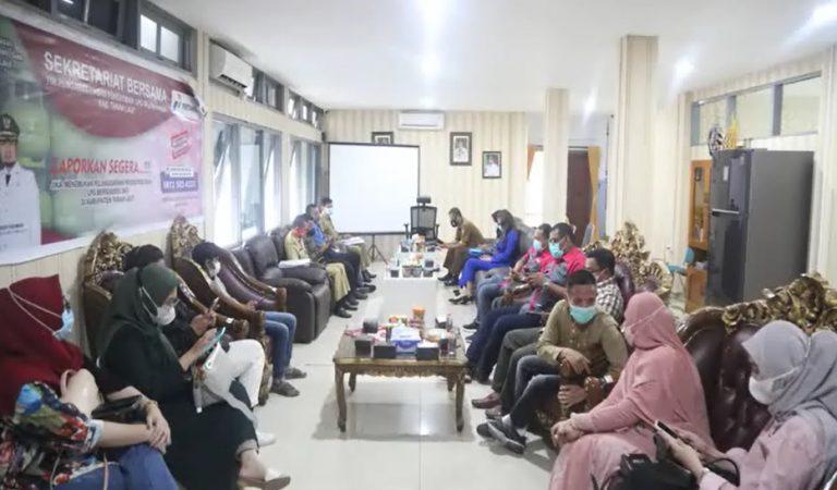 Wakil Bupati Tanah Laut Abdi Rahman menggelar rapat internal (foto:duta tv)