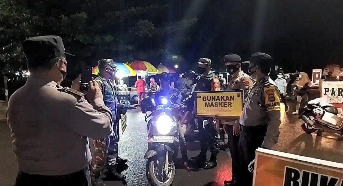 razia masker di daerah Belitung (fotoLduta tv)