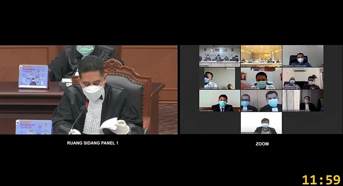 Sidang MK perselisihan hasil pemilihan Bupati Kotabaru (foto:YouTube)
