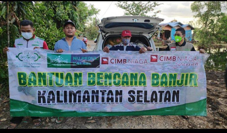 Disupport CIMB Niaga Syariah, Lazisnu Kalsel Kembali Bantu Korban Banjir Batola