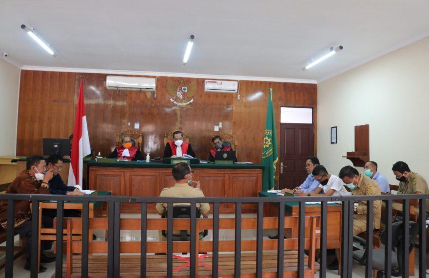 persidangan tuntutan H. Anwar Sanusi kepada PDAM Bandarmasih (foto:duta tv)