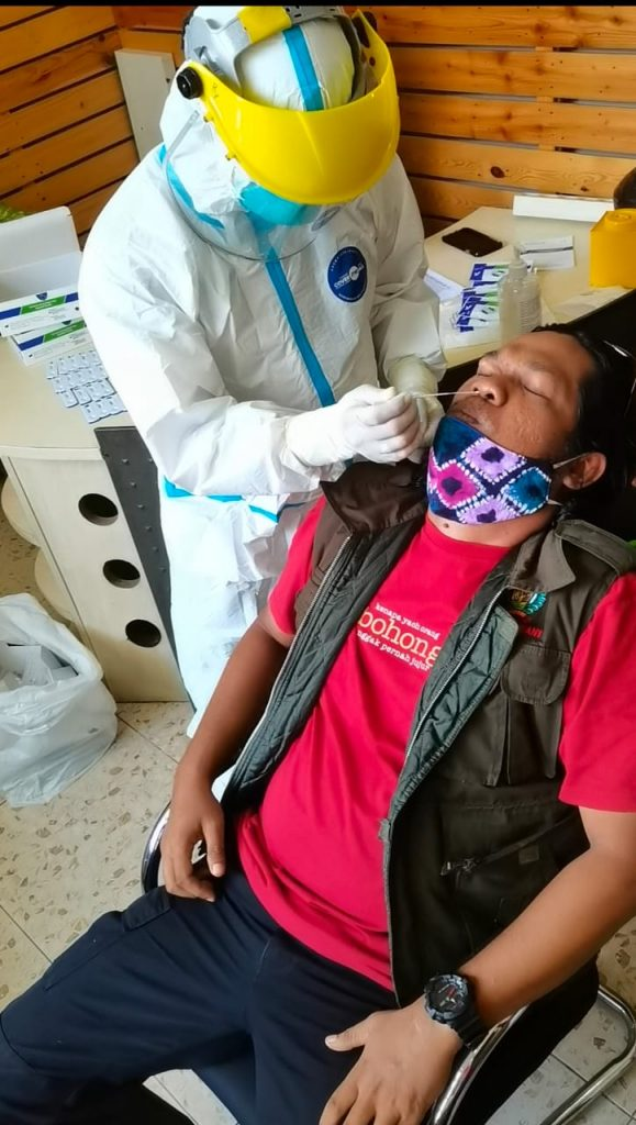 karyawan dan staff Duta TV juga mengikuti rapid test antigen (foto:duta tv)