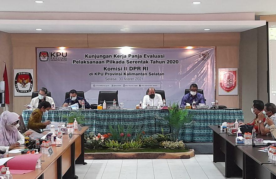 Kunjungan kerja Komisi II DPR RI ke KPU Kalsel