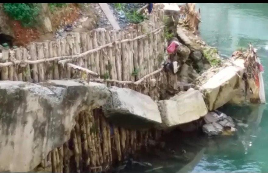 Kondisi Siring Sungai Kemuning kota Banjarbaru (foto : duta tv)
