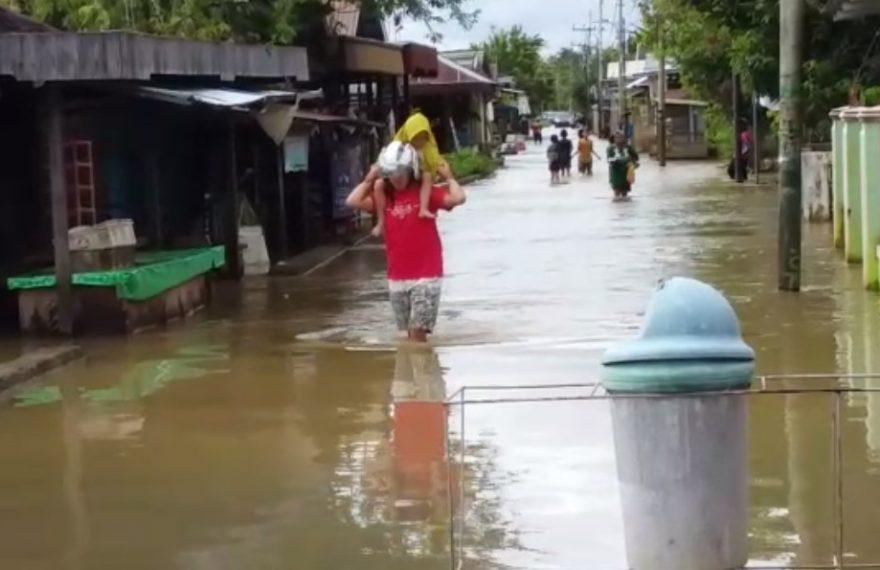 banjir yang terjadi di Martapura (foto:duta tv)
