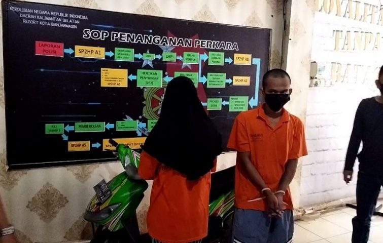 pelaku curanmor (foto:duta tv)