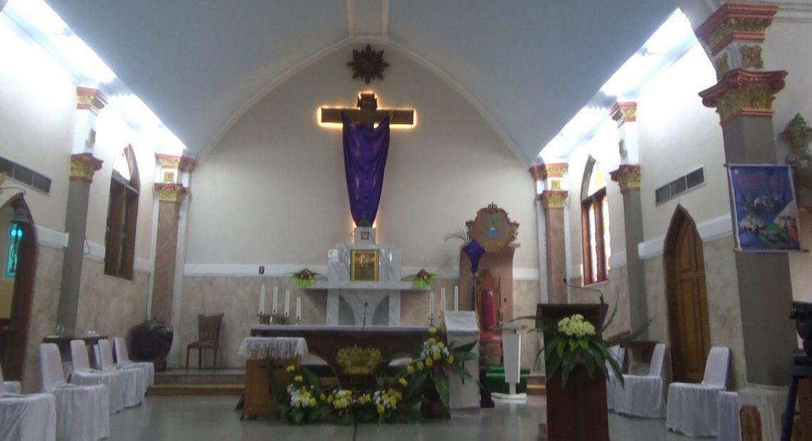 Gereja Katedral Banjarmasin mulai melakukan persiapan (foto:duta tv)