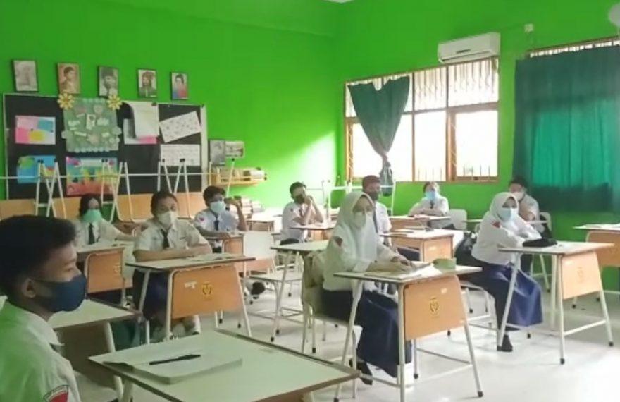 PTM SMPN 6 Banjarmasin (foto:duta tv)