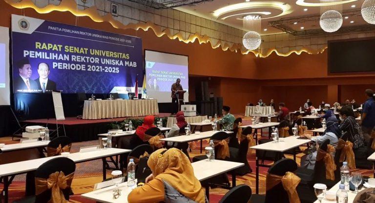 Rapat Senat Rektor Uniska Periode 2021-2025 (Foto : Duta tv)