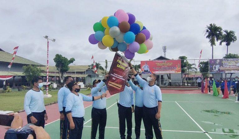 Pelepasan pekan olahraga seni untuk narapidana (foto : Duta Tv)