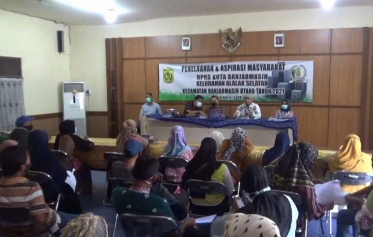 Penelaahan & Aspirasi Masyarakat DPRD Kota Banjarmasin di Alalak Selatan (Foto: Duta Tv)