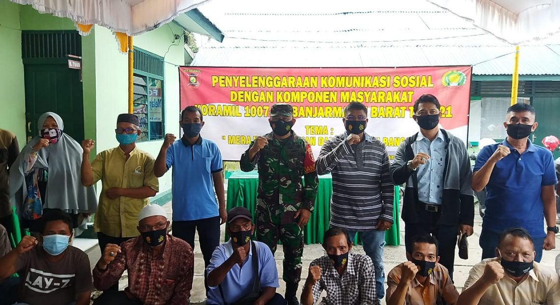 TNI Ikut Sosialisasikan Pentingnya Vaksinasi Covid-19