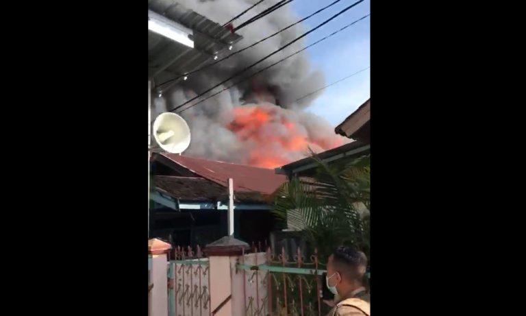 kebakaran di kawasan Saka Permai Gang Melati I dan Gang Muntazah I Banjarmasin (foto:duta tv)