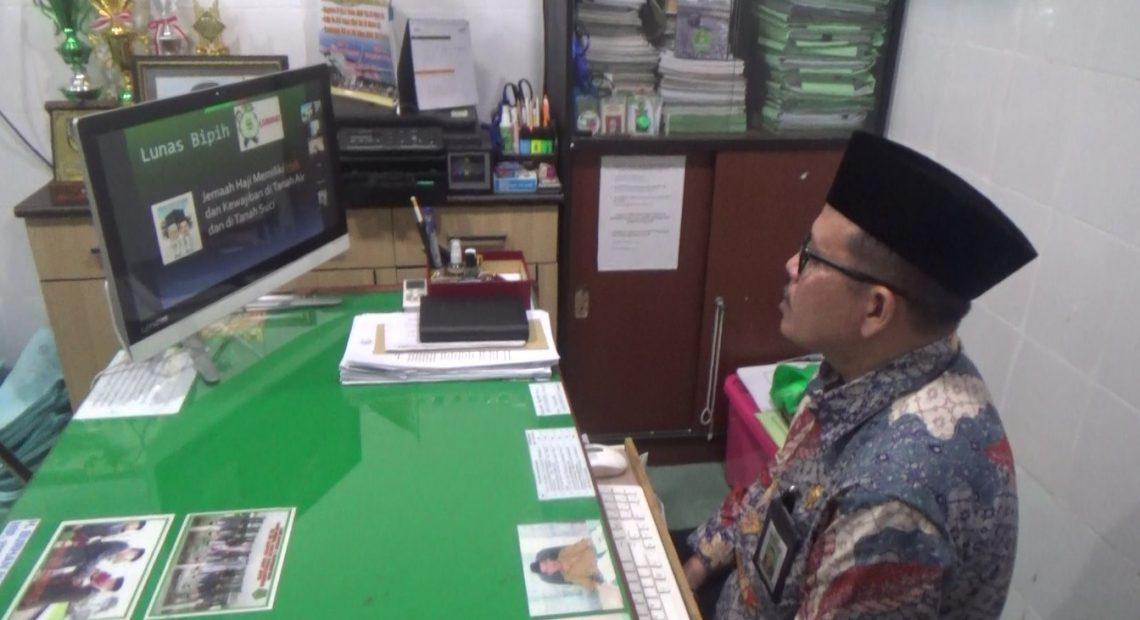 Kegiatan manasik haji virtual (foto:duta tv)