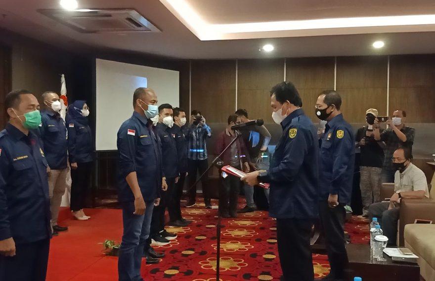 pelantikan pengurus baru, Persaudaraan Kempo Kota Banjarmasin (foto:duta tv)