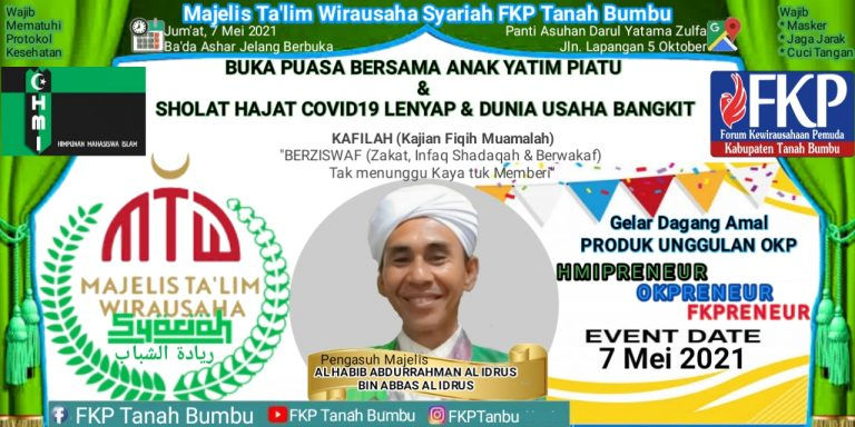 FKP Tanbu Gelar Sholat Hajat Bebas Covid-19 dan Buka Bersama Yatim Piatu