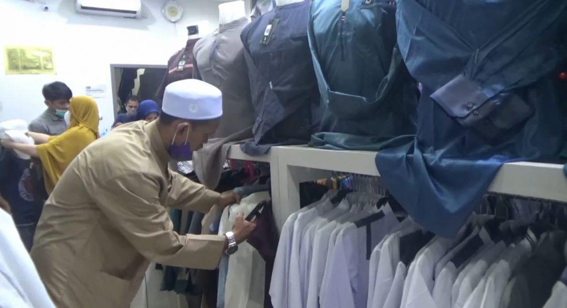 Toko Galery Muslim Al-Wafa di kawasan Bumi Mas Banjarmasin