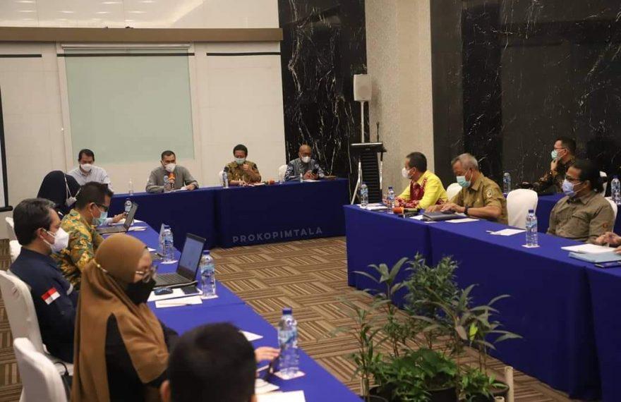 Abdi Rahman menggelar rapat koordinasi bersama kementrian dalam negeri dan kementrian ESDM (Foto: Prokopimtala)