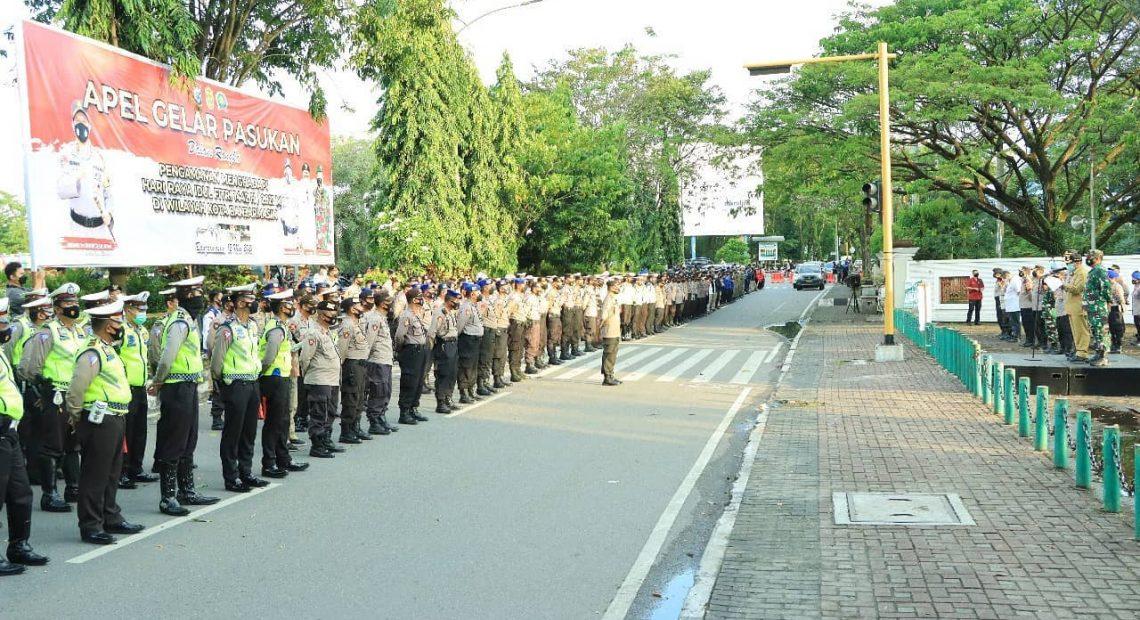 Gelar Pasukan Pengamanan PSU Pilwali Banjarmasin (Foko Dokemen)