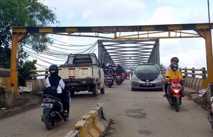 Jembatan Alalak 1 Ditutup Lagi (Foto: Istemewa)