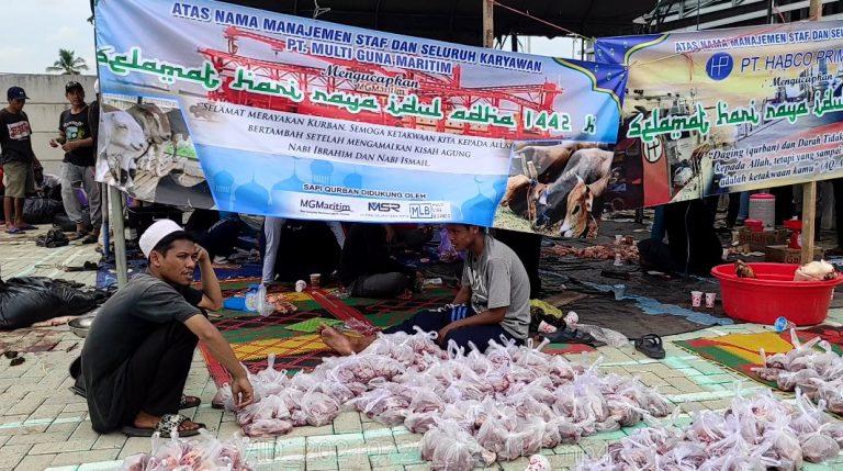 Majelis Taklim Syamail Annabawiyyah Banjarmasin Sembelih 3 Ekor Sapi