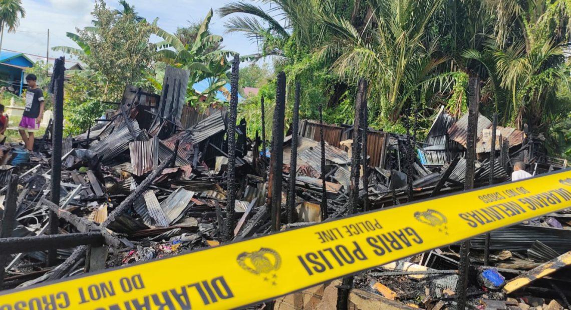 Musibah Kebakaran di Gang Swarga Biru Banjarmasin