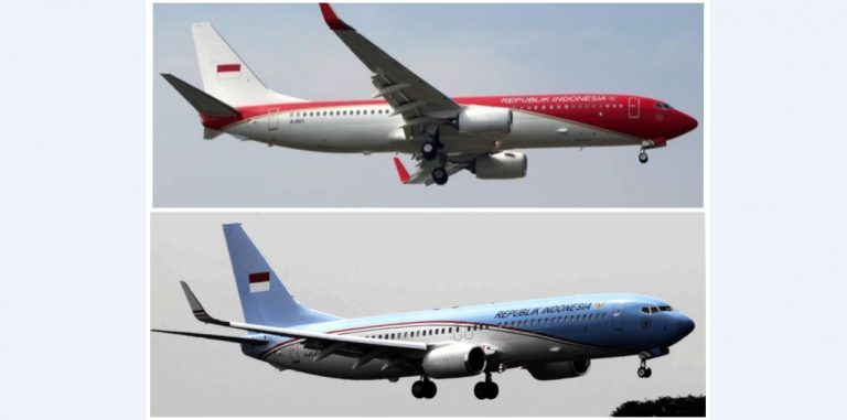 Pesawat Kepresidenan RI Sekarang Merah Putih